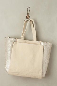 Anthropologie Sequin Glimmer Tote Bag