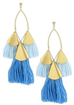 Ettika Women's Tassel Statement Earrings