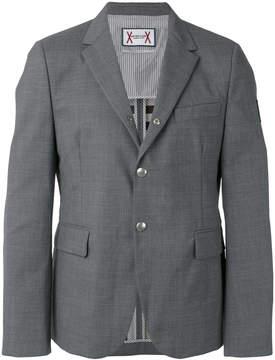 Moncler Gamme Bleu logo plaque button front blazer