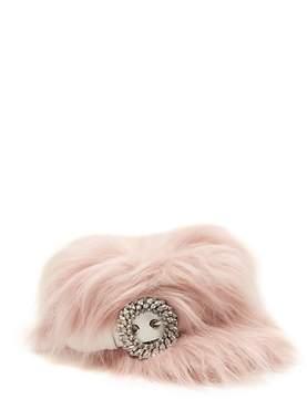 Miu Miu Crystal-embellished faux-fur hat