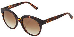 Oscar de la Renta O By Oversized Glam Round Plastic Sunglasses