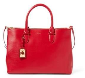 Ralph Lauren Newbury Double-Zip Satchel Red One Size
