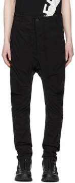11 By Boris Bidjan Saberi Black Shaped Button-Up Trousers