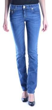 Dirk Bikkembergs Women's Blue Cotton Jeans.