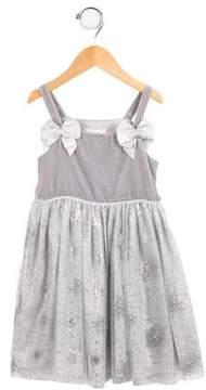 Rachel Riley Girls' Metallic Lace Dress