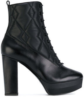 Pollini quilted ankle boots
