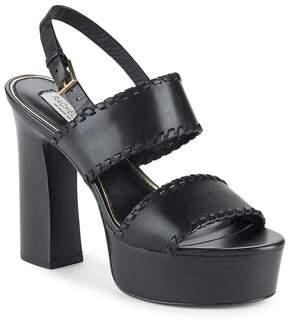 Rachel Zoe Women's Halina Leather Open-Toe Platform Sandals