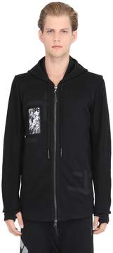 11 By Boris Bidjan Saberi Hooded Patched Zip-Up Cotton Sweatshirt