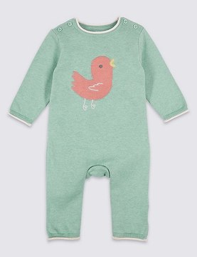 Marks and Spencer Bird Knitted Pure Cotton All in One