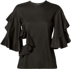 Ellery Jeremiah Ruffle Cutout T-Shirt