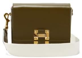 Sophie Hulme Quick Small Leather Cross Body Bag - Womens - Khaki Multi