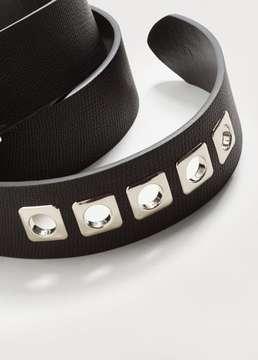 Violeta BY MANGO Metal appliqué belt