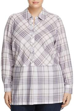 Foxcroft Plus Maddy Winter Plaid Tunic Top