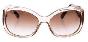 Bvlgari Crystal-Embellished Square Sunglasses