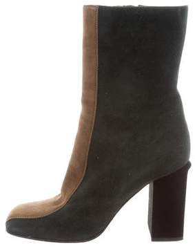Marni Suede Colorblock Ankle Boots