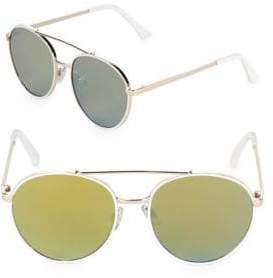 Fantas-Eyes Mirrored 50MM Aviator Sunglasses