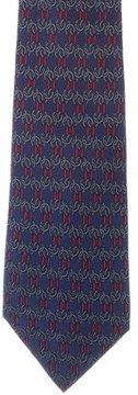 Hermes Silk Chain Link Print Tie