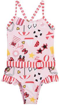 Betsey Johnson Beach Print One-Piece Swimsuit (Baby Girls)