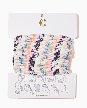 Abstract Stripe Hair Wrap