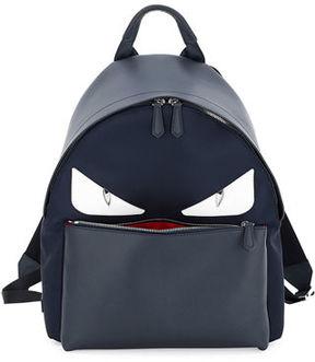 Fendi Monster Eyes Leather/Nylon Backpack