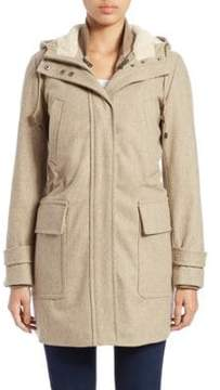 Cole Haan Two-Piece Wool-Blend Anorak Jacket