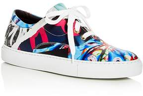 Moschino Women's Printed Lace Up Platform Sneakers