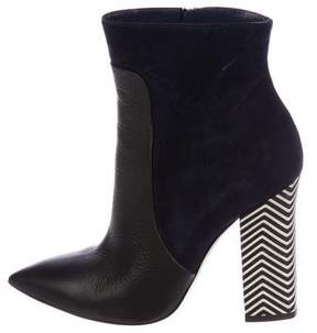 Pollini Color block Pointed-Toe Ankle Boots