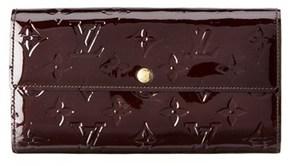 Louis Vuitton Purple Monogram Vernis Leather Sarah Wallet. - NO COLOR - STYLE