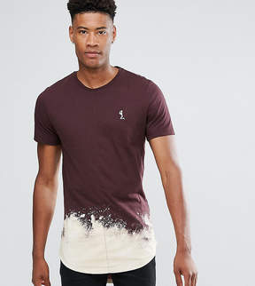Religion TALL Longline T-Shirt With Bleach Curved Hem