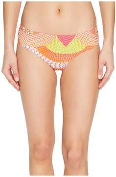 Echo Havana Geo Ruched Bikini Bottom Women's Swimwear