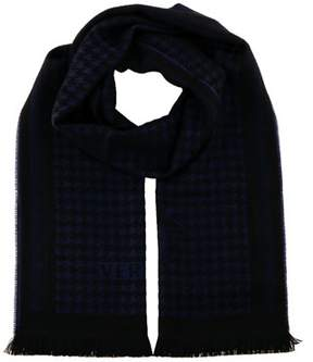 Versace It00631 Marino Navy Blue 100% Wool Mens Scarf.