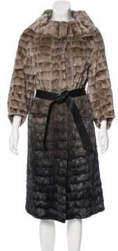 Carmen Marc Valvo Pieced Mink Coat