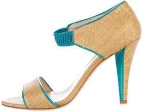 Oscar de la Renta Woven Multistrap Sandals