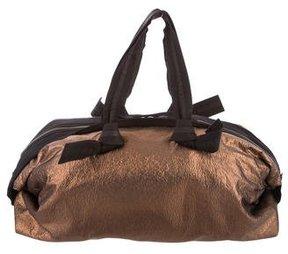 Lanvin Crinkled Lamé Shoulder Bag