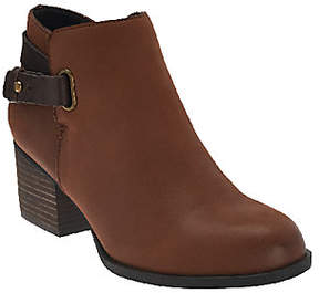 Sole Society Leather Ankle Boots w/ StrapDetail - Angie