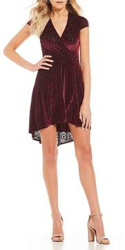 B. Darlin Burnout Velvet High-Low Dress