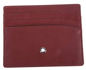 Montblanc Men's Burgundy Leather Card Holder.