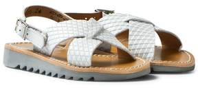Pom D'Api Pom Dapi Blanc Ripple Cross Buckle Sandals