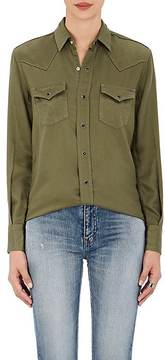 Saint Laurent Women's Cotton Twill Western Shirt