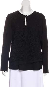 Ella Moss Embroidered Long Sleeve Top