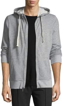2xist Heathered-Knit Zip-Front Sweatshirt