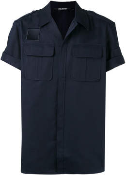 Neil Barrett concealed placket shortsleeved shirt
