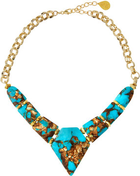 Devon Leigh Turquoise Bronzite Arrow Necklace