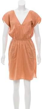 Eres Short Sleeve V-Neck Dress