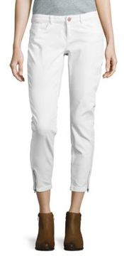 Noisy May Zip-Accented Cropped Jeans