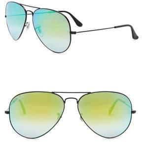 Ray-Ban Icons 62mm Aviator Sunglasses