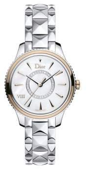 Christian Dior VIII Montaigne Diamond, 18K Rose Gold, Alligator & Stainless Steel Watch