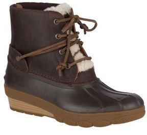 Sperry Women's Saltwater Water Resistant Faux Shearling Duck Boot