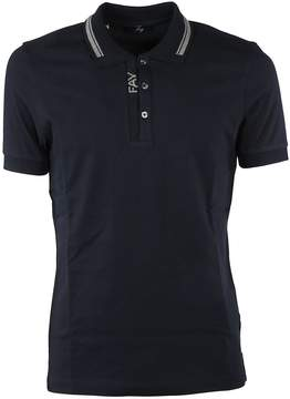 Fay Logo Print Polo Shirt