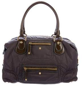 Tod's Patent Leather-Trimmed Nylon Bag